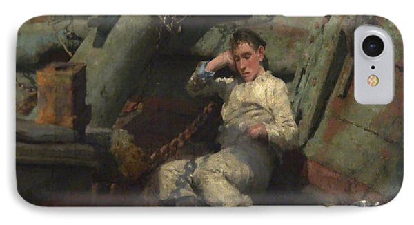 IPhone Case featuring the painting Taking A Spell  by Henry Scott Tuke