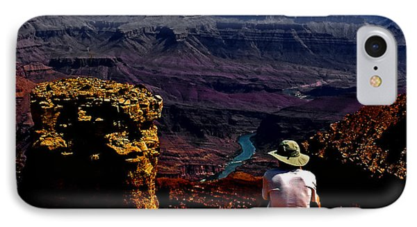 IPhone Case featuring the photograph Taking In The View - Grand Canyon South Rim by George Bostian