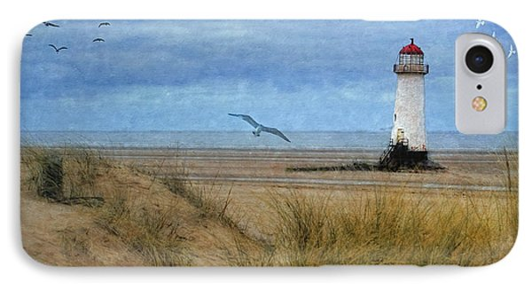 IPhone Case featuring the digital art Talacre Lighthouse - Wales by Lianne Schneider