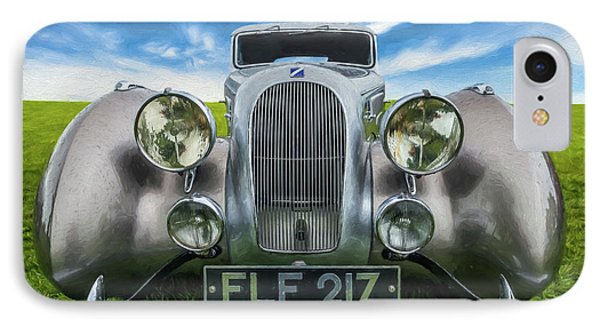 Talbot T23 Figoni Et Falaschi Coupe IPhone Case by Adrian Evans