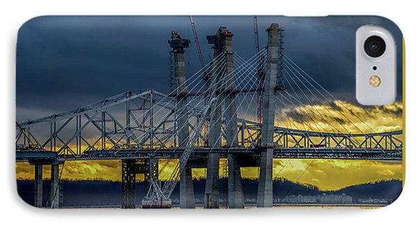 Tale Of 2 Bridges At Sunset IPhone Case by Jeffrey Friedkin