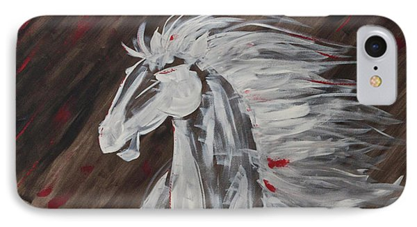 Tale Of The Wind Horse Phone Case by Stephane Trahan
