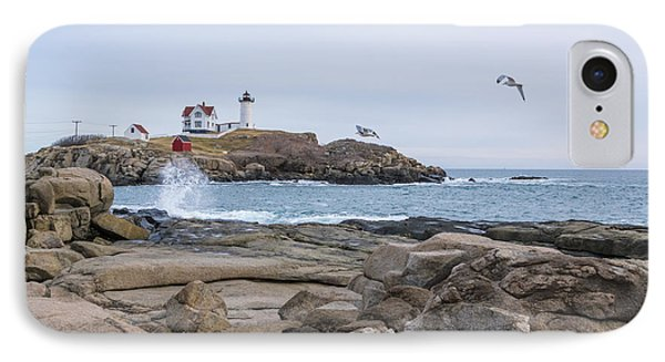 Tale Of Two Lighthouse IPhone Case by Patrick Fennell