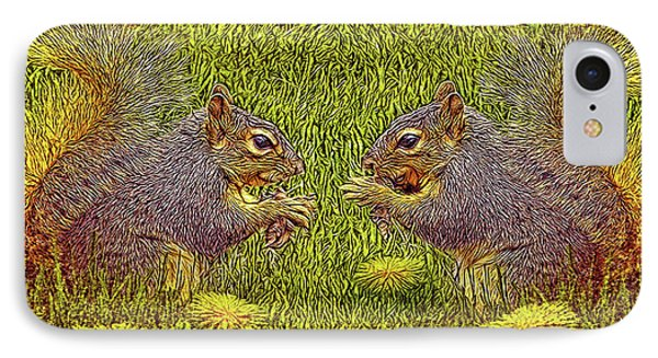 Tale Of Two Squirrels IPhone Case