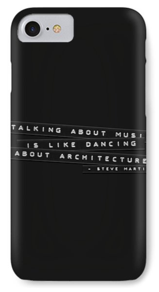 IPhone Case featuring the photograph Talking About Music Embossed Labels by Brian Carson