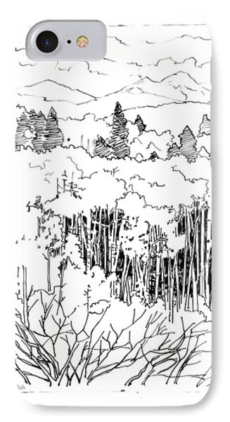 Tall Aspens Rocky Mountains Phone Case by John Lautermilch