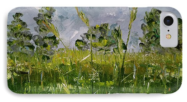 IPhone Case featuring the painting Tall Grass by Judith Rhue