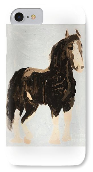IPhone Case featuring the painting Tall Horse by Donald J Ryker III