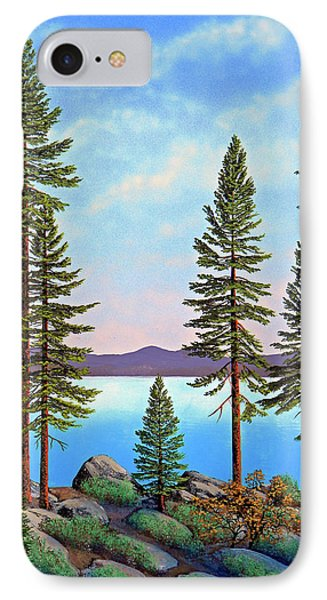 Tall Pines Of Lake Tahoe Phone Case by Frank Wilson
