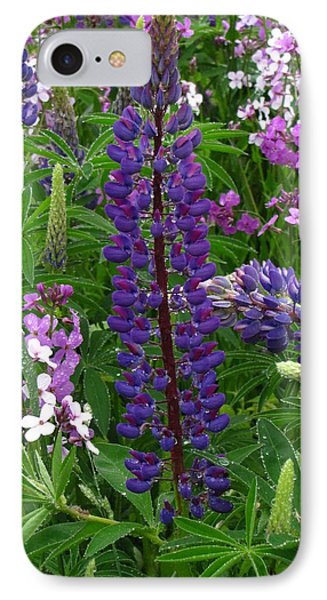 Tall Purple Luppin Phone Case by Melissa Parks