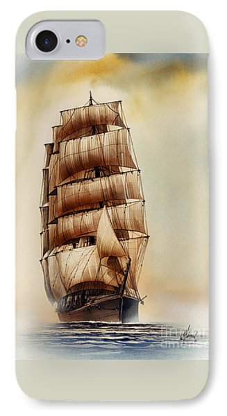 Tall Ship Carradale IPhone Case by James Williamson