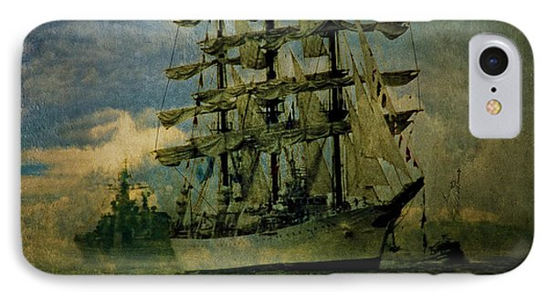 Tall Ship New York Harbor 1976 IPhone Case by Chris Lord