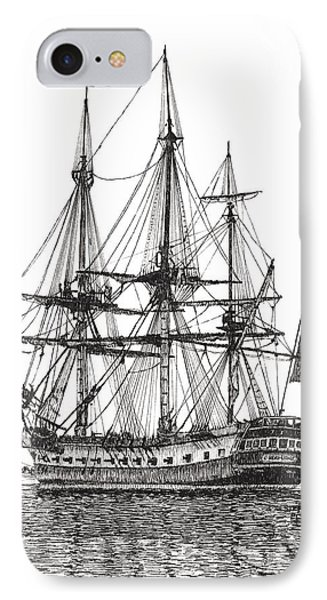 Tall Ship L'hermione On The York River IPhone Case by Stephany Elsworth