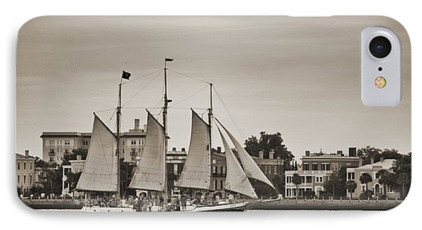 Tall Ship Schooner Pride Off The Historic Charleston Battery IPhone Case by Dustin K Ryan