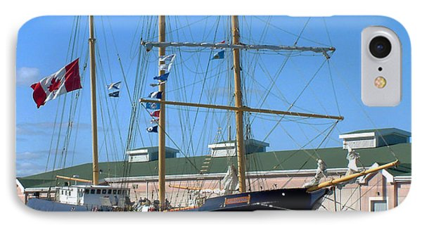 Tall Ship Waiting IPhone Case by RC DeWinter