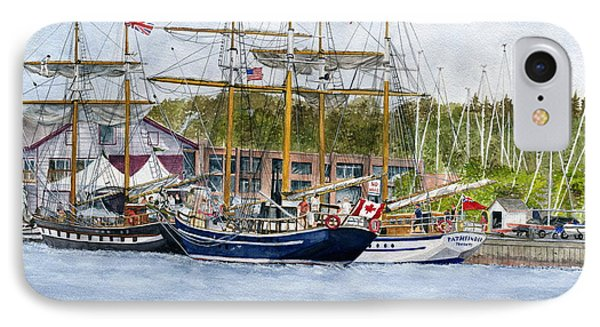 IPhone Case featuring the painting Tall Ships Festival by Melly Terpening
