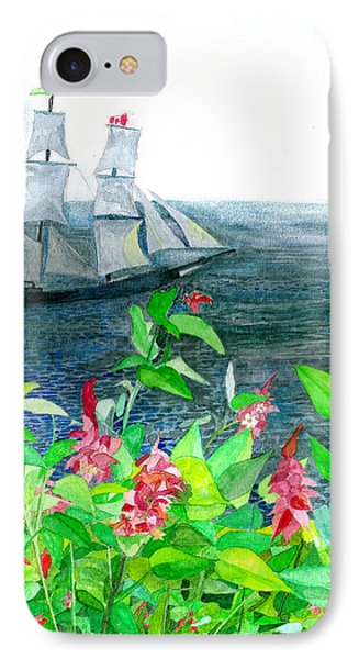 IPhone Case featuring the painting Tall Ships In Victoria Bc by Eric Samuelson