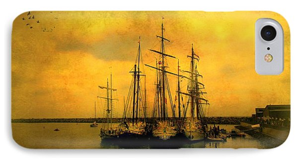 Tall Ships Of Dana Point Phone Case by Kevin Moore