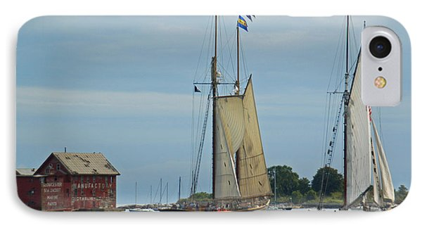 Tall Ships Sailing II Phone Case by Suzanne Gaff