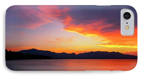 IPhone Case featuring the photograph Tallac On Fire by Brad Scott