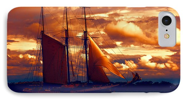 Tallship - Moody Blues And Powerful Oranges IPhone Case