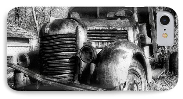 Tam Truck Black And White Phone Case by Marko Mitic