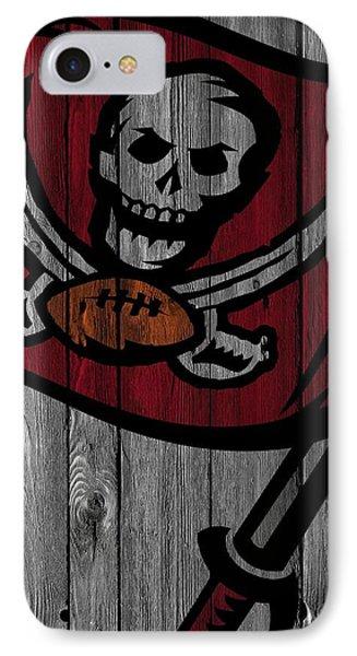 Tampa Bay Buccaneers Wood Fence IPhone Case by Joe Hamilton