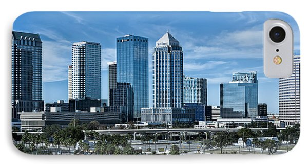 IPhone Case featuring the photograph Tampa Bay Skyline by Linda Constant