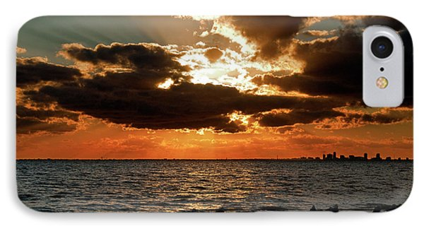 Tampa Bay Sunset Phone Case by Christopher Holmes