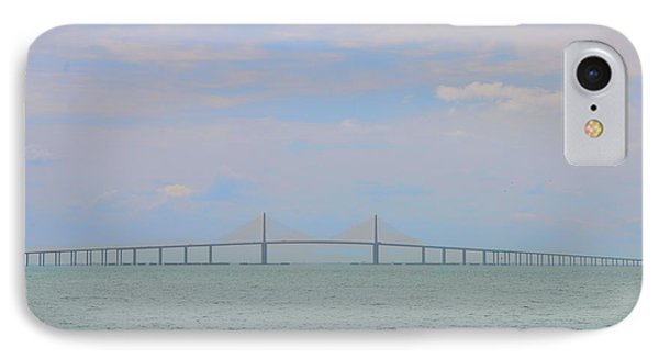 Tampa Bay - Sunshine Skyway Bridge IPhone Case by Bill Cannon