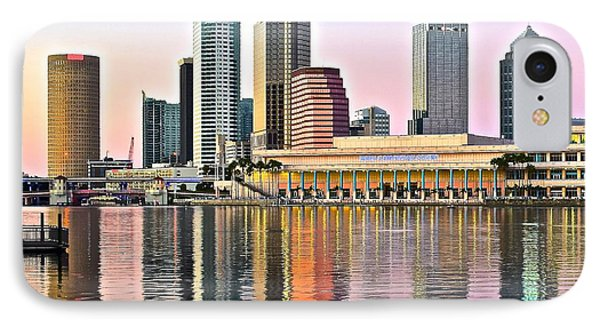 Tampa In Vivid Color IPhone Case by Frozen in Time Fine Art Photography