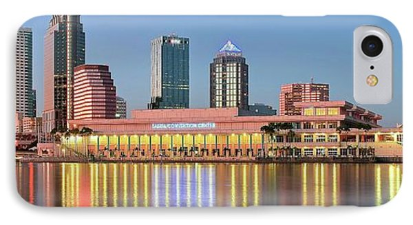 Tampa Panoramic View IPhone Case by Frozen in Time Fine Art Photography