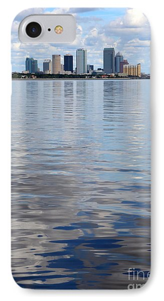 Tampa Skyline Over The Bay IPhone Case by Carol Groenen