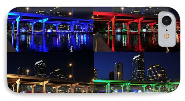 IPhone Case featuring the photograph Tampa's Colorful Bridges by David Lee Thompson