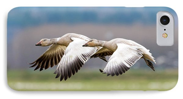 IPhone Case featuring the photograph Tandem Glide by Mike Dawson