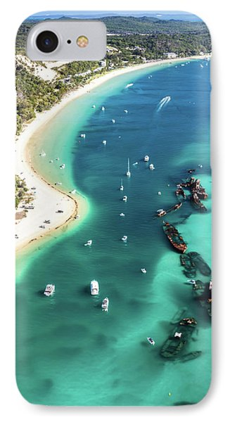 Tangalooma Wrecks IPhone Case by Peta Thames