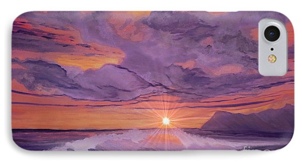 IPhone Case featuring the painting Tangerine Sky by Holly Martinson