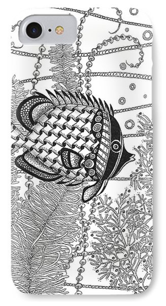 Tangle Fish II IPhone Case by Stephanie Troxell