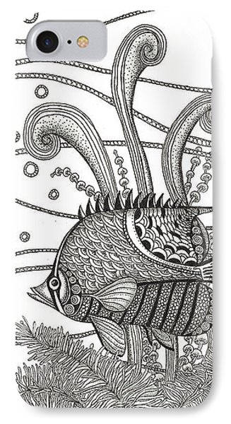 Tangle Fish IPhone Case by Stephanie Troxell