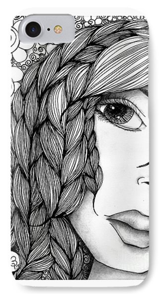 Tangle Lady Phone Case by Delein Padilla