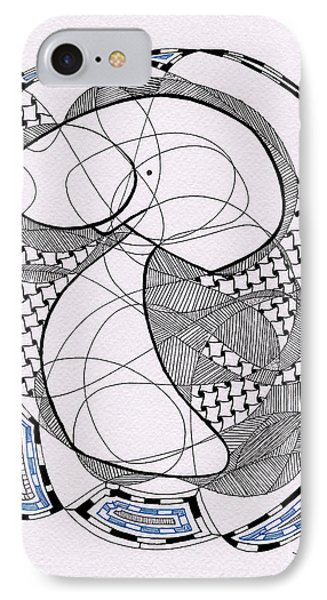Tangle Monster Drawing IPhone Case by Uncle J's Monsters