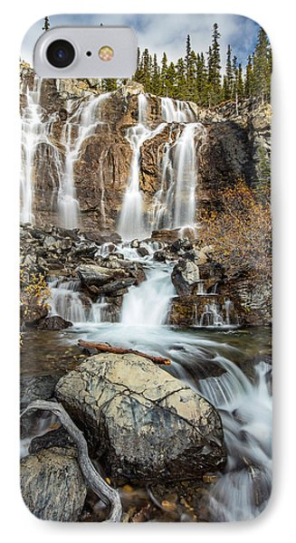 IPhone Case featuring the photograph Tangle Waterfall On The Icefield Parkway by Pierre Leclerc Photography
