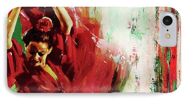 IPhone Case featuring the painting Tango Dance 45g by Gull G
