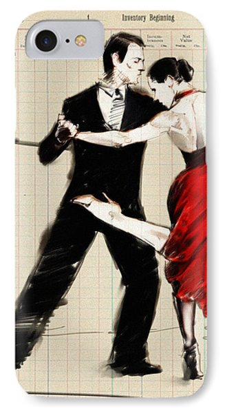 Tango In Black And Red IPhone Case by H James Hoff