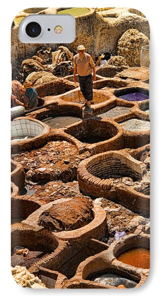 Tanneries Of Ancient Fes Morroco IPhone Case