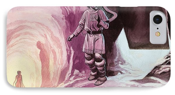 Tannhauser Following Venus Inside The Cavern IPhone Case by Ron Embleton