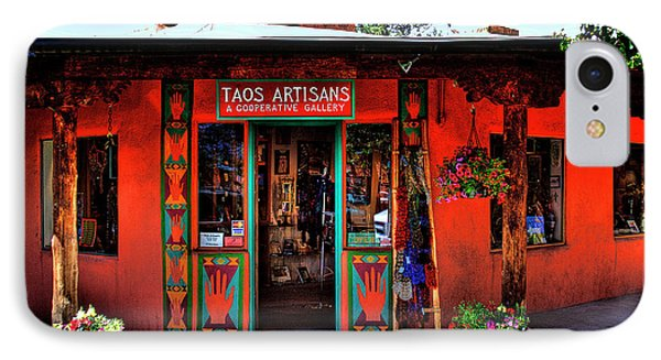 Taos Artisans Gallery Phone Case by David Patterson