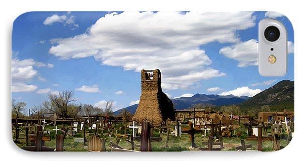Taos Pueblo Cemetery Phone Case by Kurt Van Wagner