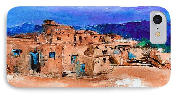 Taos Pueblo Village Phone Case by Elise Palmigiani
