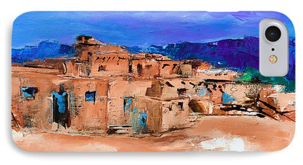 Taos Pueblo Village IPhone Case by Elise Palmigiani
